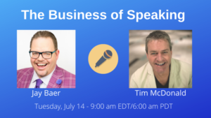 Jay Baer on The Business of Speaking Show with date and time