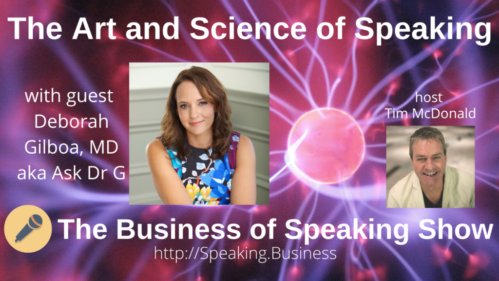 Title card for The Art and Science of Speaking with Deborah Gilboa, MD